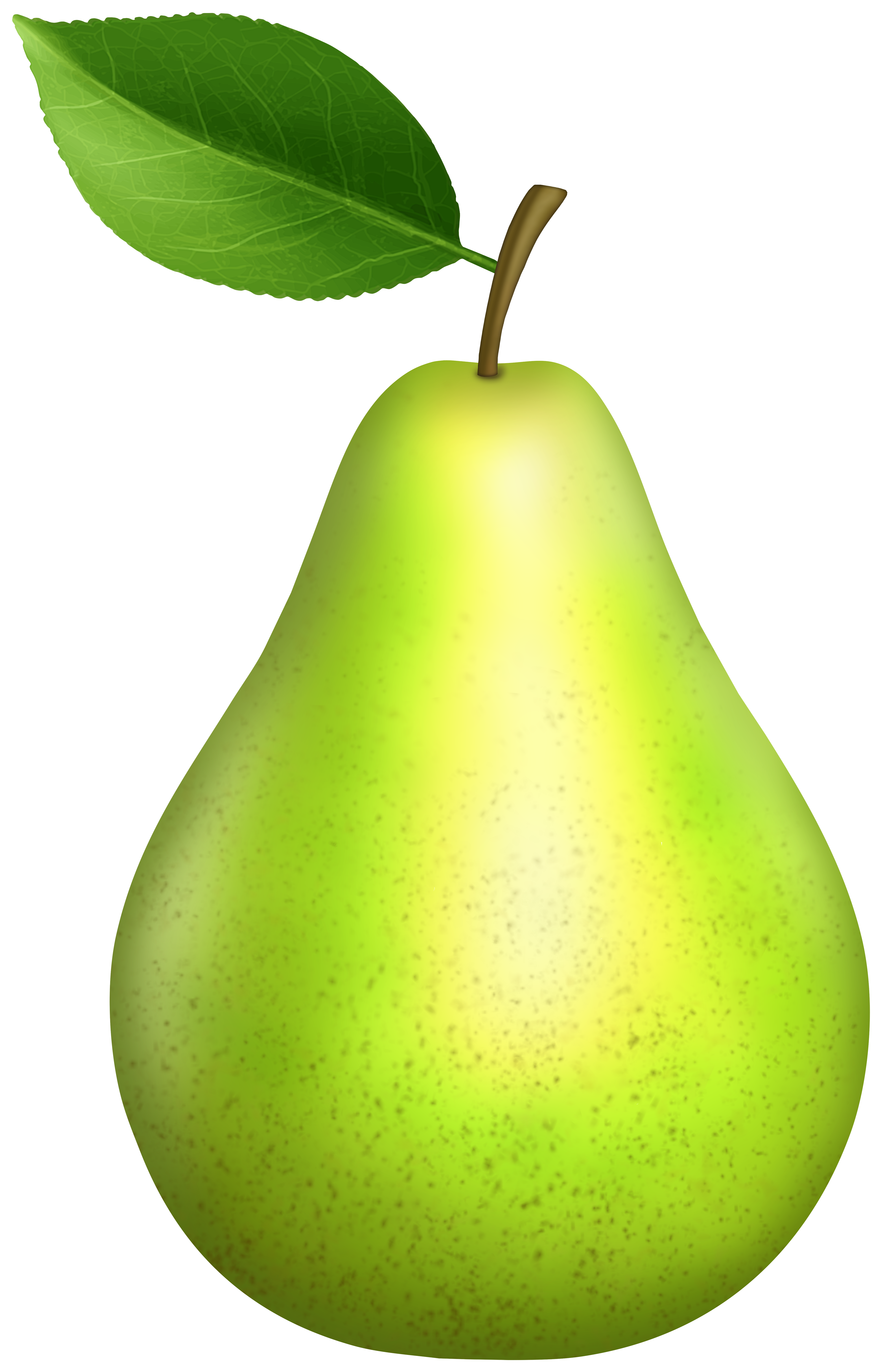 Green Pear PNG Clipart.
