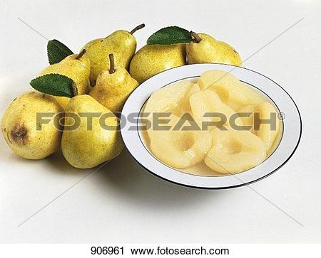 Stock Photography of Pear compote and fresh pears 906961.
