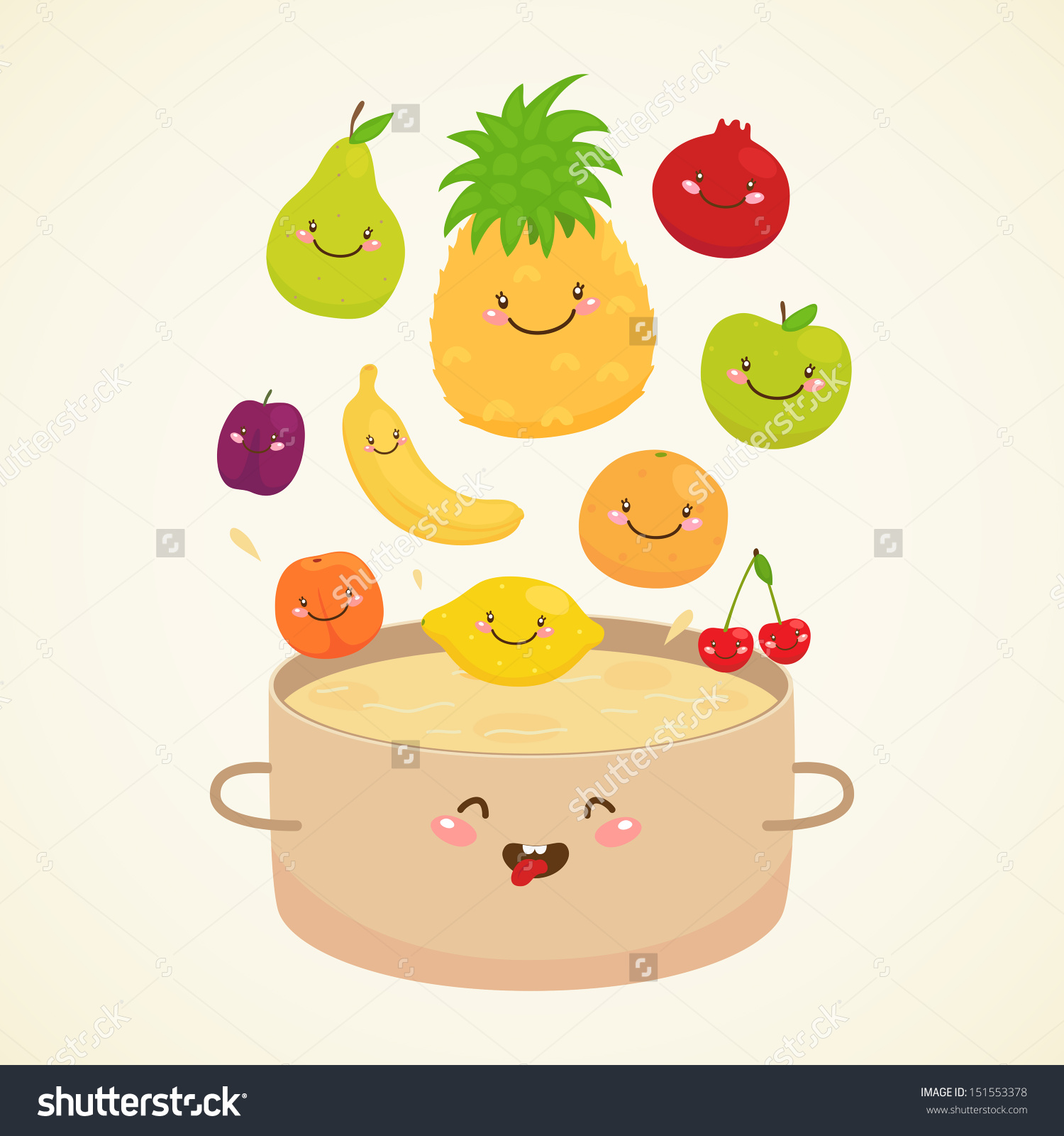 Compote: Apple, Pear, Lemon, Orange, Plum, Cherry, Pineapple.