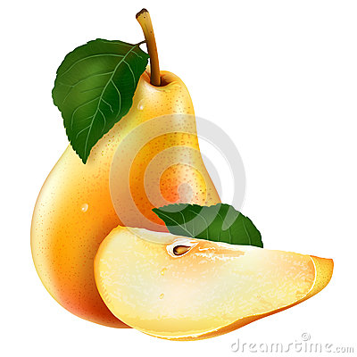 Cinnamon Pear Compote Stock Illustrations.