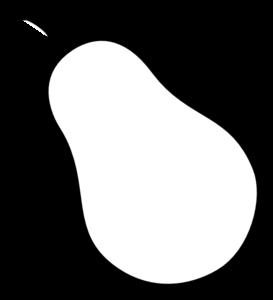 Pear Outline Clip Art at Clker.com.