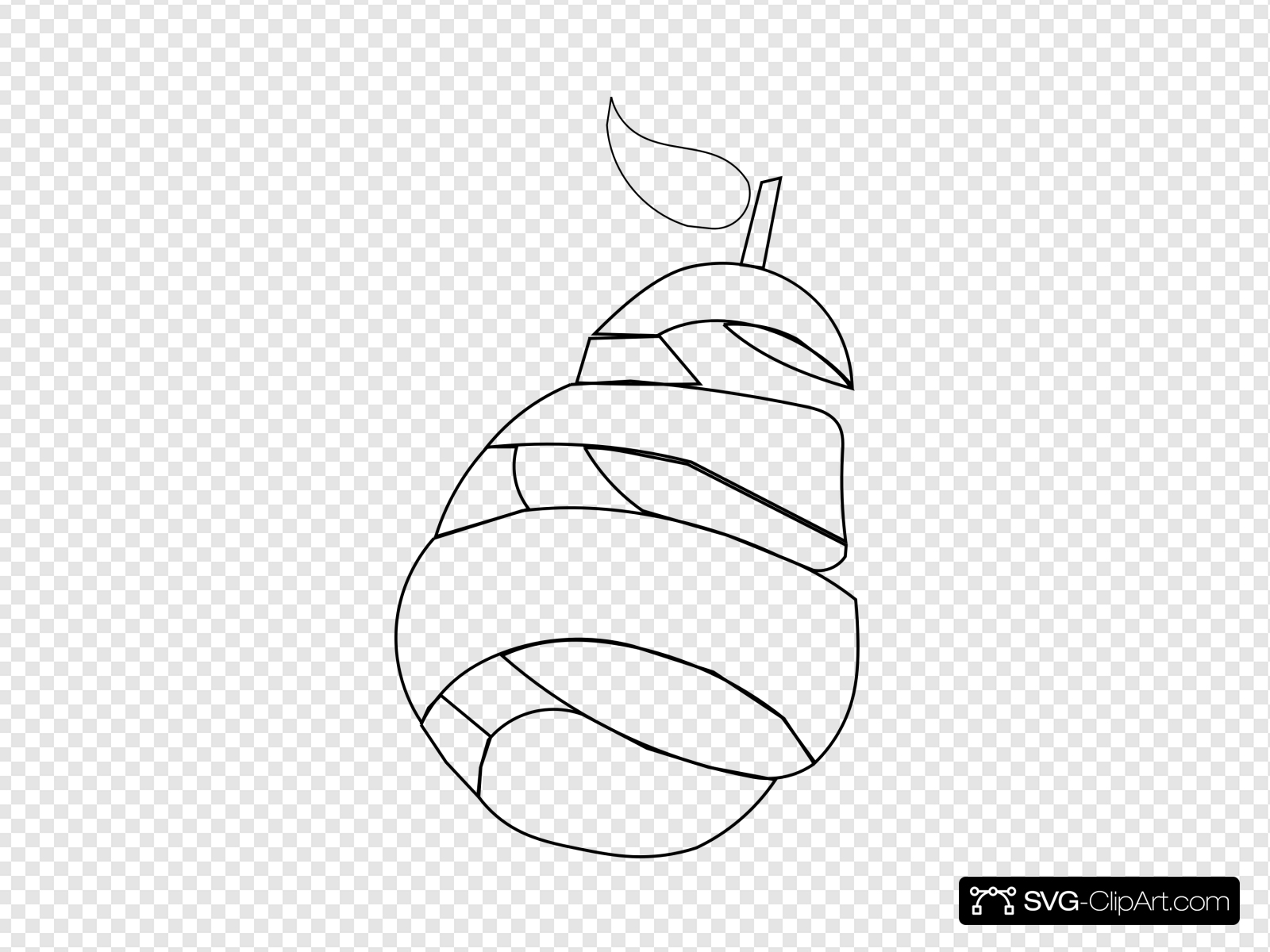 Pear Outline Clip art, Icon and SVG.