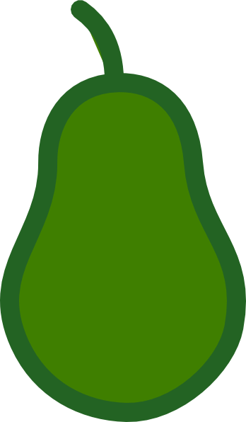 Pear Outline Clipart.