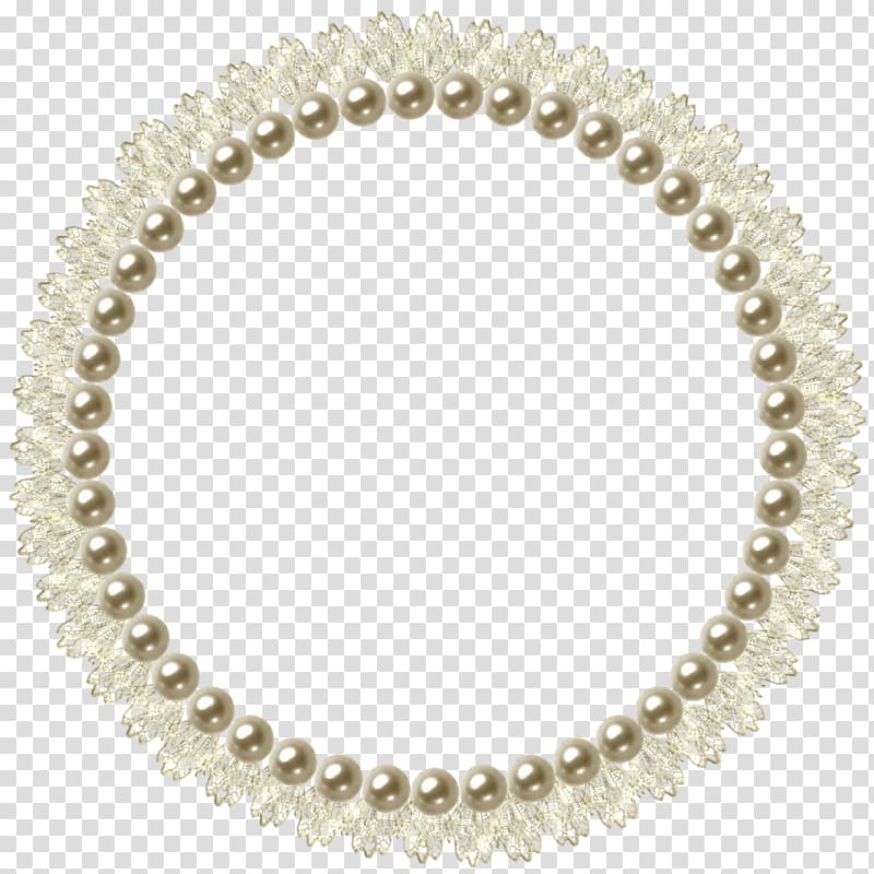 Round beaded beige and brown frame, Pearl frame, Pearl.