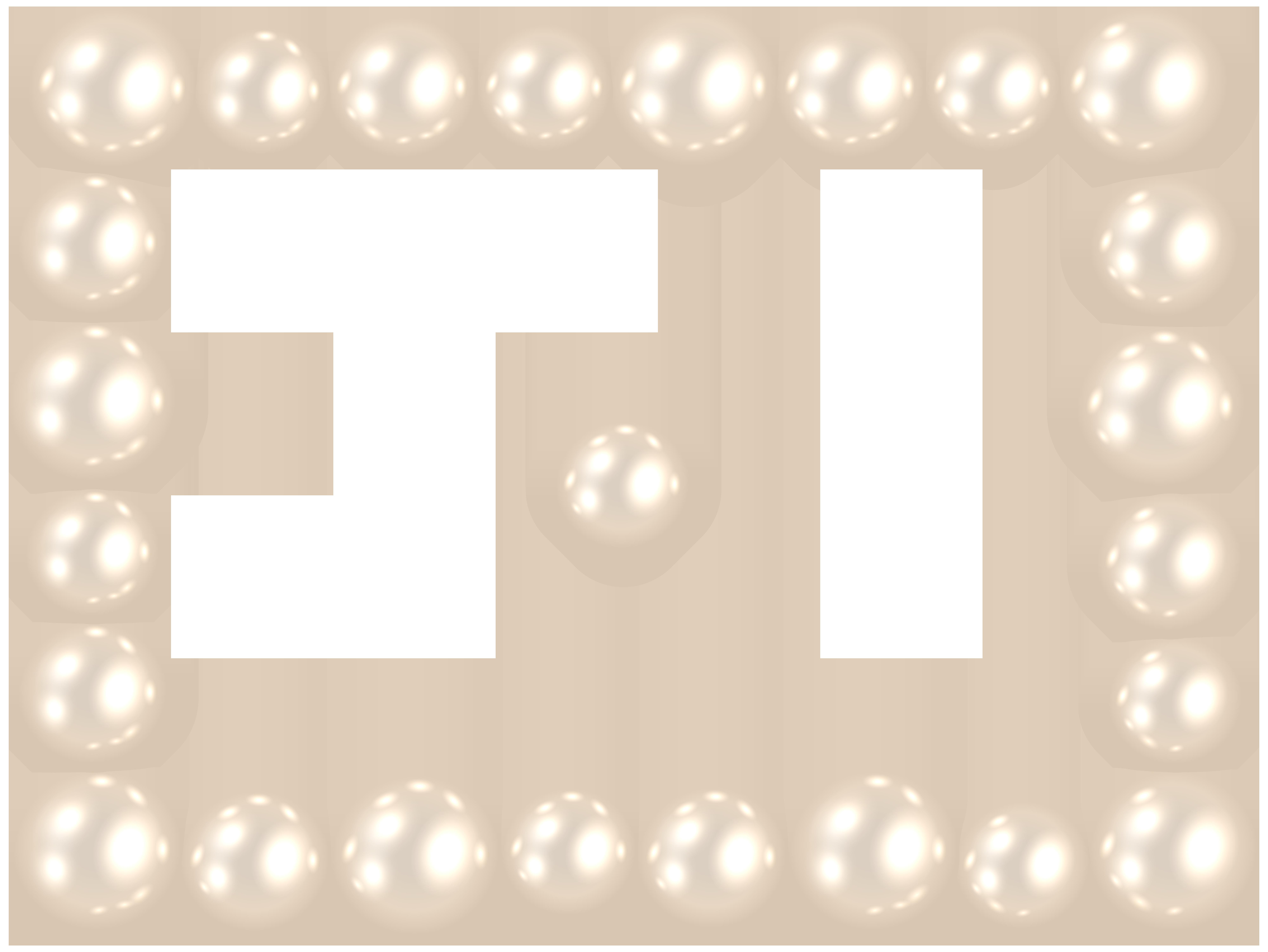 Pearl Frame PNG Clip Art Image.