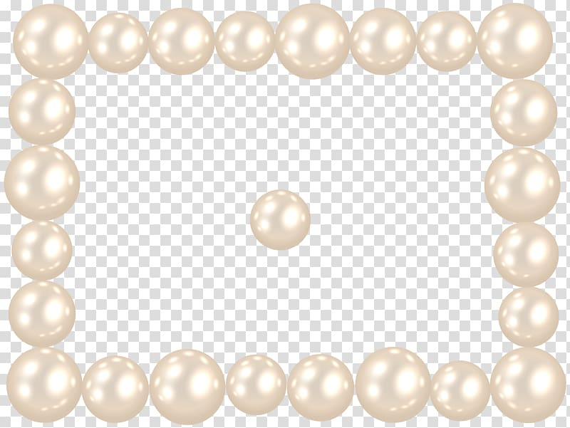White pearls, Texture Painting Art , Pearl Frame transparent.