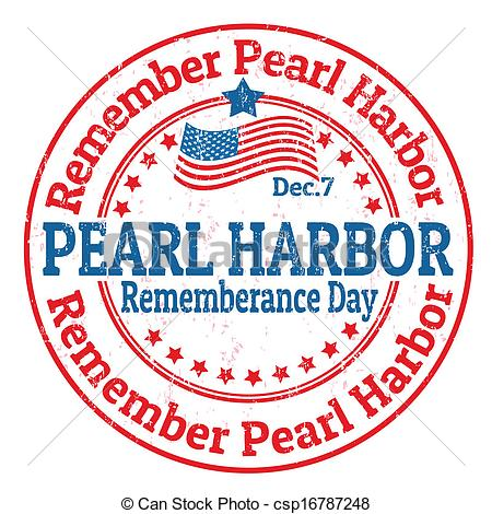 EPS Vector of Pearl Harbor Rememberance Day stamp.