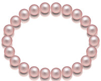 Pink Pearl Necklace Stock Illustrations.