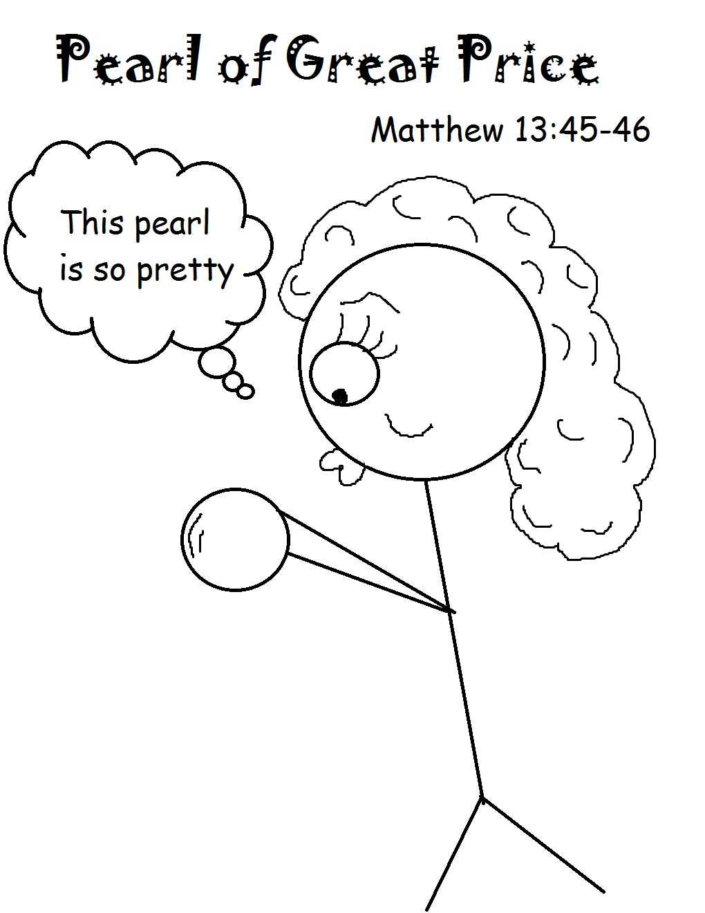 The Pearl Of Great Price Sunday School lesson.