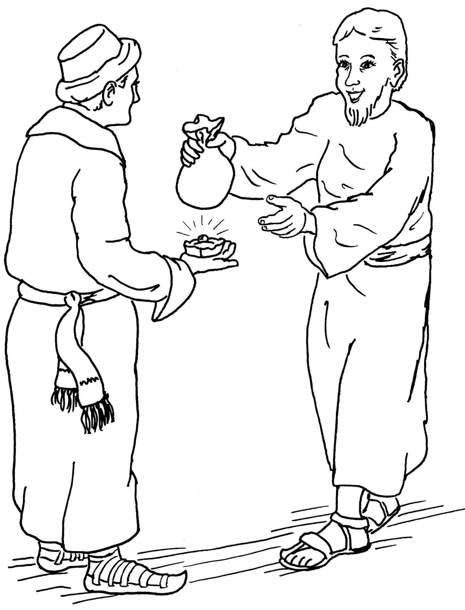 Parables of the Pearl and Hidden Treasure Coloring Pages.