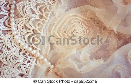 Lace And Pearls Clipart.