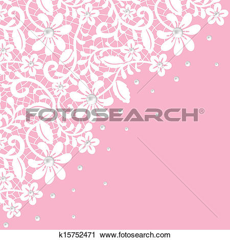 Clip Art of lace background k13126477.
