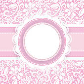 Clipart of lace background and pearl necklace k13916702.