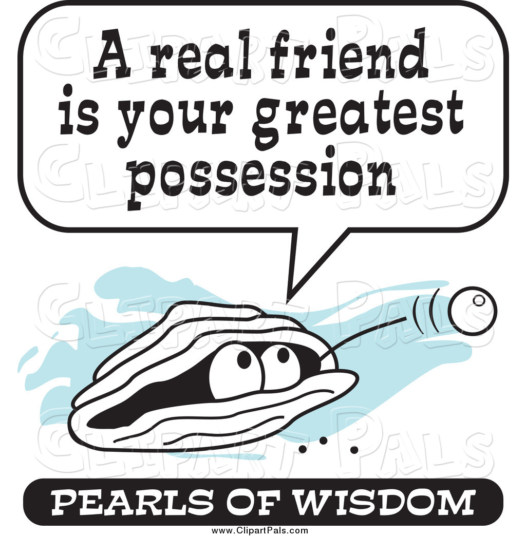 Pearls Of Wisdom Clipart.