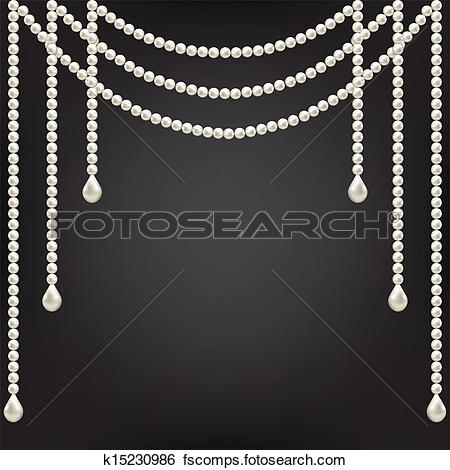 String Of Pearls Clipart.