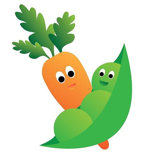 \'Peas & Carrots\' Poster by Samm Poirier.