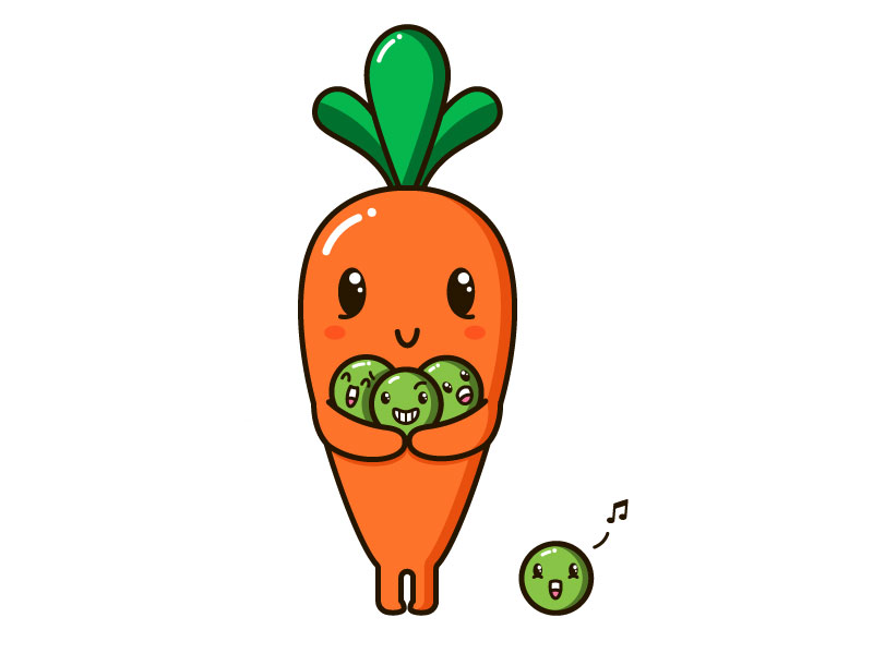 flavor peas and carrots.