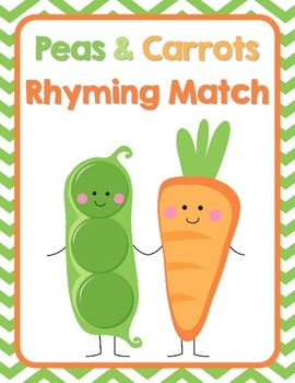 Peas & Carrots Rhyming Picture Match.