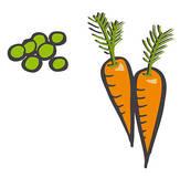 Carrots clipart pea, Carrots pea Transparent FREE for.