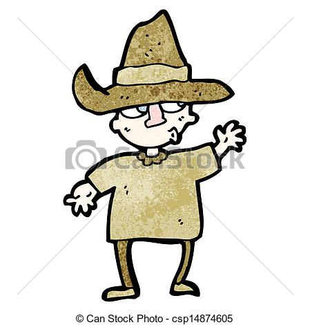 Vector Illustration of cartoon peasant csp15569527.