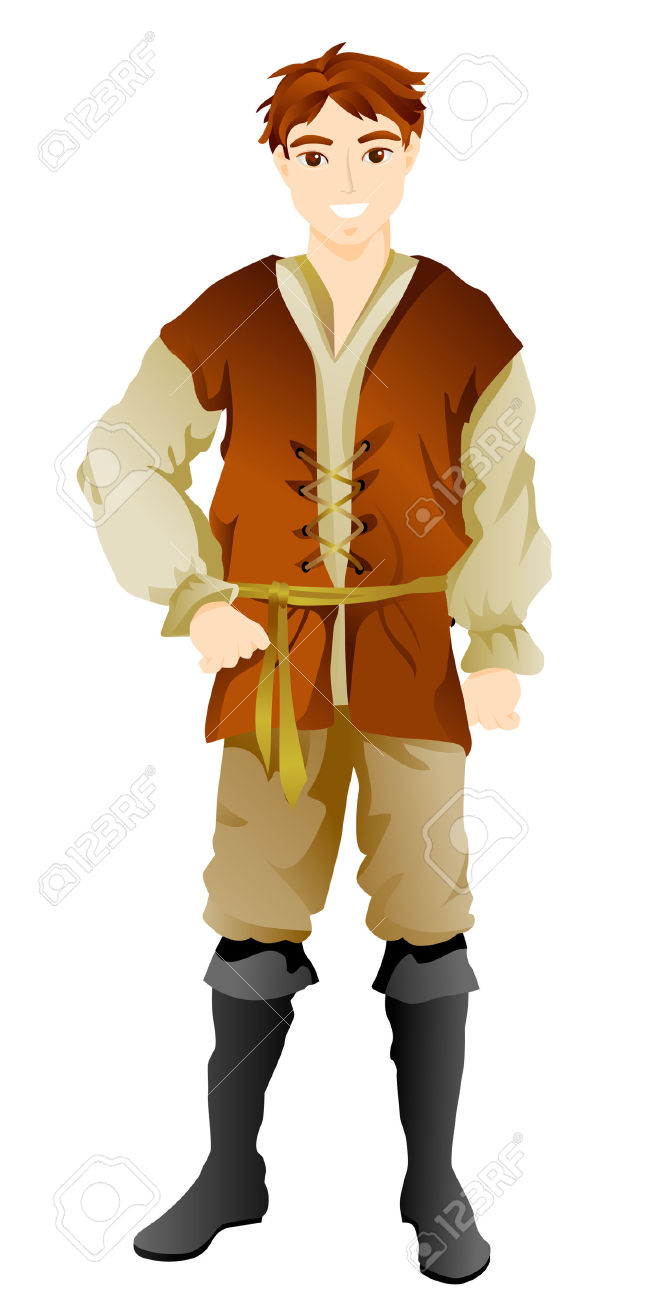 Peasant Costume With Clipping Path Royalty Free Cliparts, Vectors.