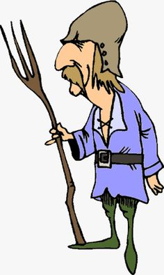 Peasant Middle Ages Clipart.