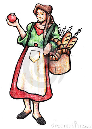 peasant girl clipart - Clipground