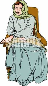 Free Clipart For Peasant Girl With Flowers.