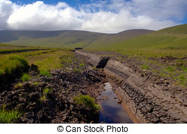 Stock Photo of Irish peat bog.
