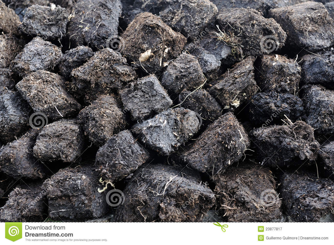 Peat Bog Harvest Royalty Free Stock Photography.