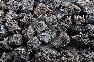 Peat Stack Stock Image.