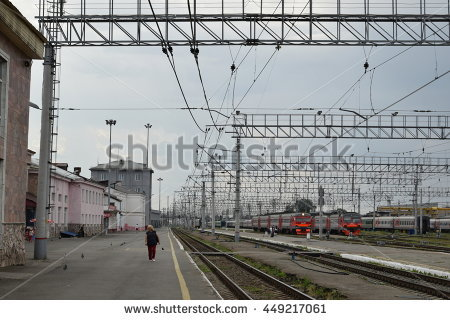 Railway Yard Stock Photos, Royalty.
