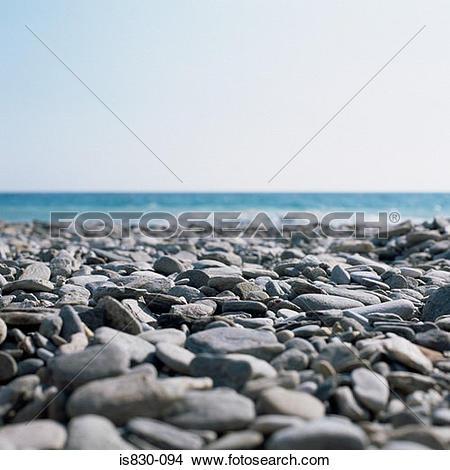 Stock Photo of Pebble beach is830.