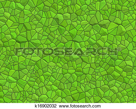 Clip Art of Floor with green pebble mosaic k16902032.
