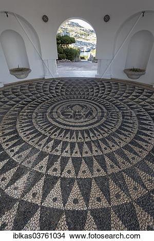 "Stock Photo of ""Pavilion with pebble mosaic, chochlaki, Thermes."
