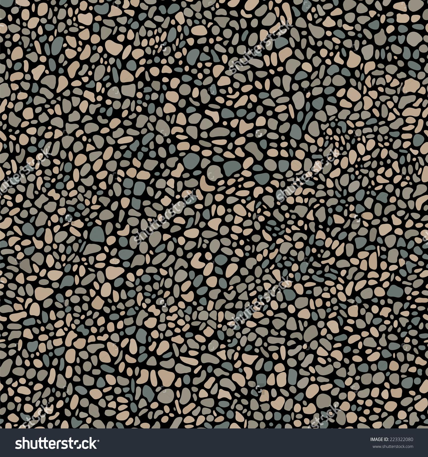 Pebble Mosaic Seamless Pattern Stock Vector 223322080.
