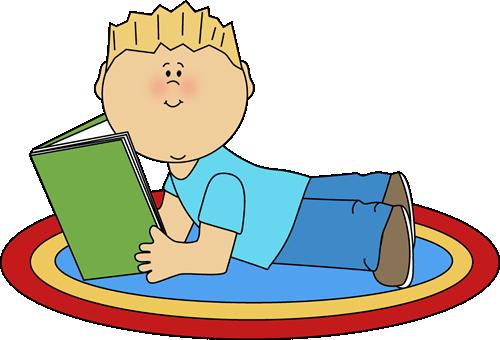 Boy Reading Clipart.