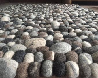 Pebble rug.