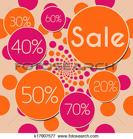 Stock Illustration of Sale Peach Pink Square k17907577.