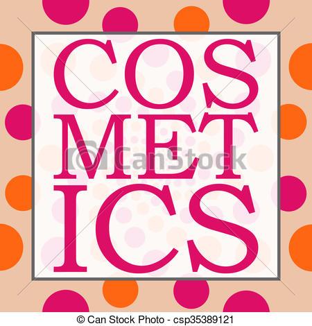 Clip Art of Cosmetics Peach Pink Circles Square.
