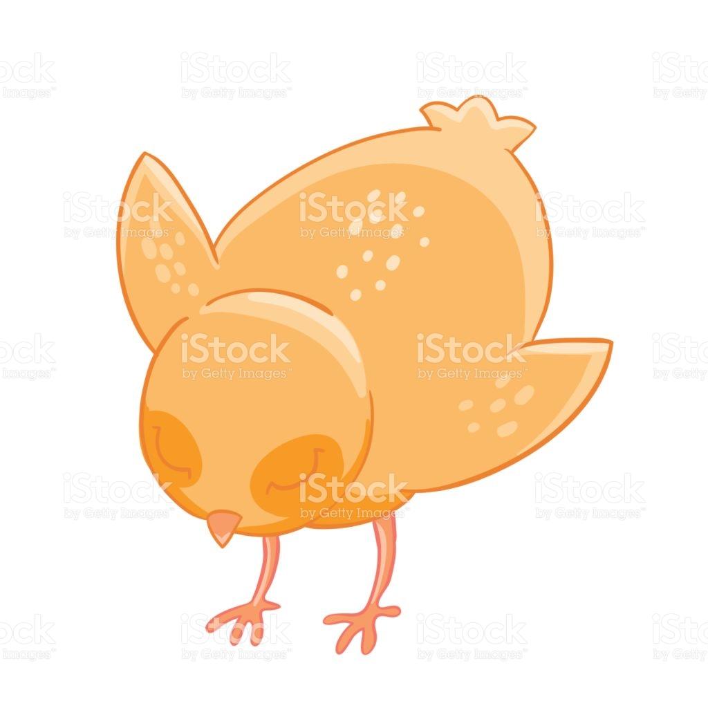 Little Cartoon Chicken Pecks Of Grain stock vector art 643601784.