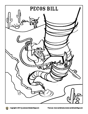 Pecos Bill Coloring Page.