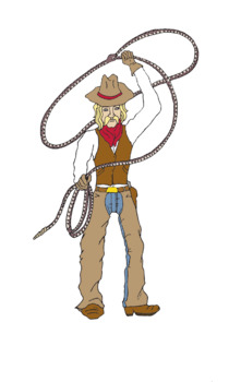 Pecos Bill Clip Art, Tall Tales, Wild West.