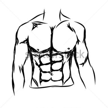 Chest body clipart.