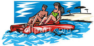 Paddle Boat Clipart.
