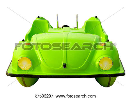 Picture of Green Pedalo Car Isolated k7503297.