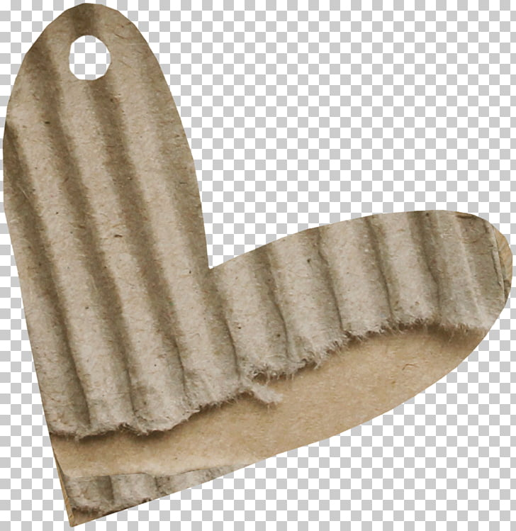 Cartulina de papel, pedazo de papel marrón corazones PNG.