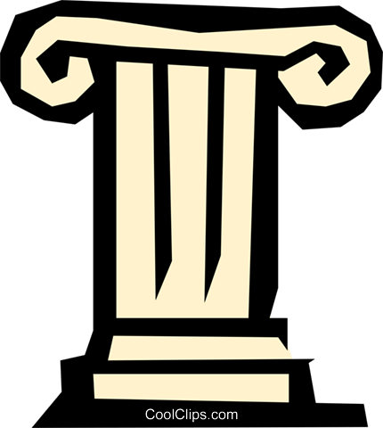 Pedestal Royalty Free Vector Clip Art illustration.