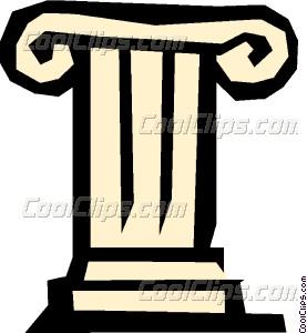 Pedestal Vector Clip art.