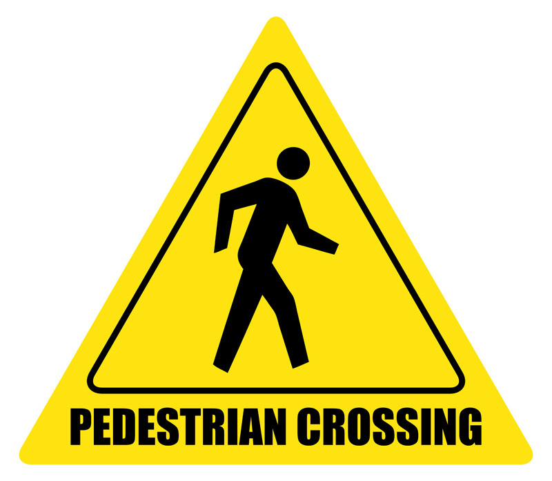 Pedestrian Sign Clipart.